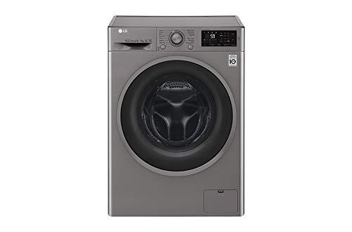 LG F4J6TM8S Independiente Carga frontal A Acero inoxidable lavadora - Lavadora-secadora (Carga...