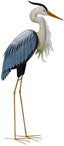 YATUKESHII Creative sculpture desktop decoration bedroom living room decoration,Metal BIRDS Garden Ornament Heron Ornament Statue Lawn Egret Feature A+Height70cm For outdoor B+height96cm