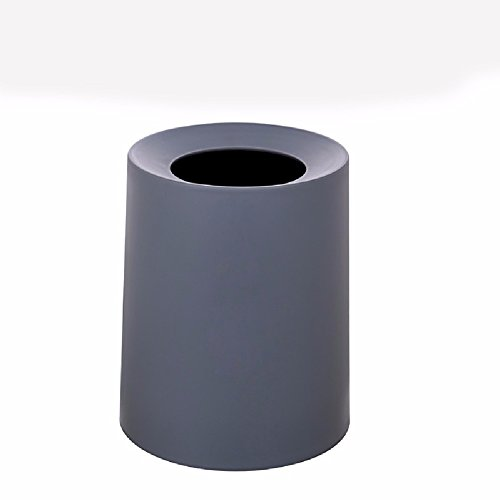 HQLCX Bacs à ordures Double Double Poubelle De Plastique Bureau De Style Européen Toilettes Cuisine Panier,Gris Foncé