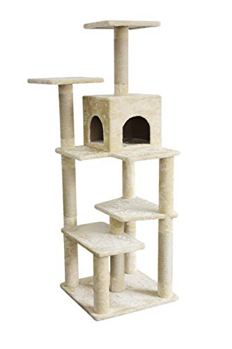 Amazon Basics Extra Large Cat Tree Tower with Cave And Scratching Post - Beige