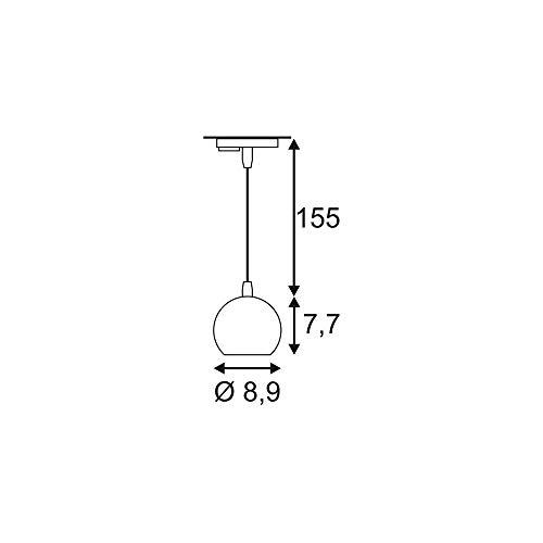 SLV 1-Phasen Pendelleuchte Light Eye GU10, inklusiv Adapter, weiß/chrom 144021