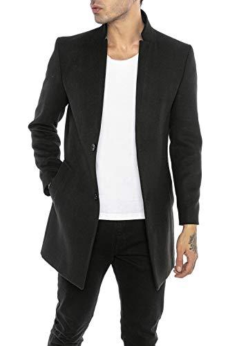Redbridge Abrigo de Hombre Chaqueta Elegante Larga Slim Fit Classy Understatement Negro XL