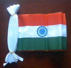 India Banderole à fanions Motif drapeau de 9 m