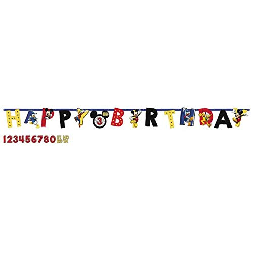 "Disney ""Mickey Mouse"" Jumbo Add-An-Age Letter Banner, Birthday"