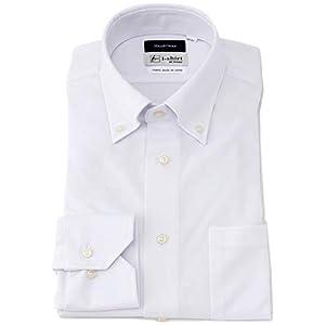 [アイシャツ] i-shirt 白無地 完全ノーアイロン ストレッチ 超速乾 長袖 アイシャツ ワイシャツ ホワイト メンズ 形態安定 無地 スリムフィット 長袖ボタンダウン M151180042 日本 M82(首回り39cm×裄丈82cm) (日本サイズM相当)
