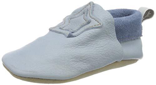 Sterntaler Chłopcy buty do raczkowania skóra płaskie kapcie domowe, niebieski - Bleu - 19/20 EU
