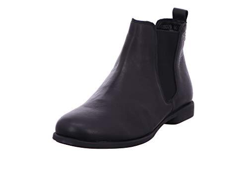 THINK! Damen AGRAT_3-000029 leder gefütterter, nachhaltiger Chelsea-Boots, 0000 Schwarz