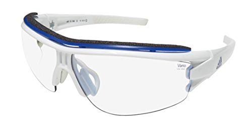 adidas Evil Eye Halfrim Pro Glasses L White Shiny/Vario Blue 2019 Fahrradbrille