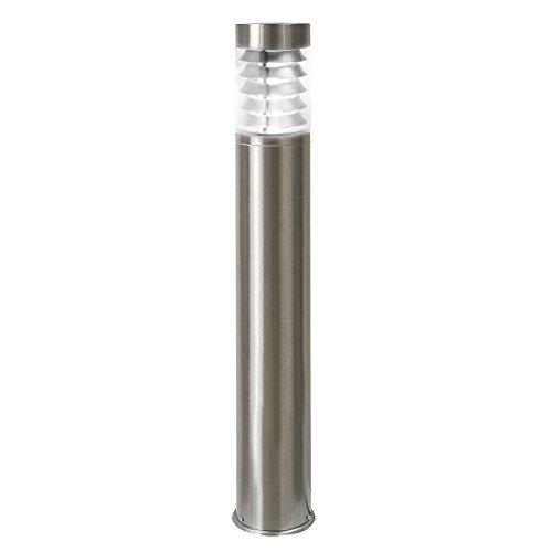 LED Standleuchte, 110cm, Pollerleuchte, Wegleuchte, Sockelleuchte, Gartenleuchte, Außenleuchte, Edelstahl, IP44, E27-230V (Form:S18) (Neutralweiß)