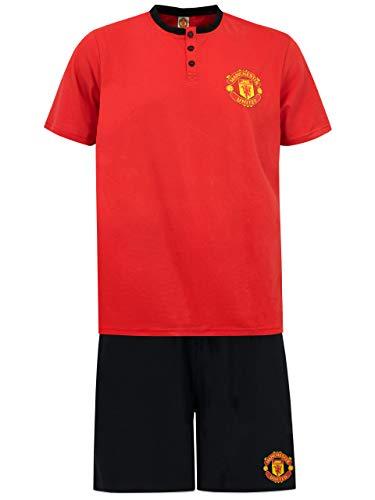 Manchester United FC Pijama para Hombre Rojo Large