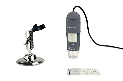 Celestron Deluxe Handheld Digital Microscope, Capture Your Discoveries, (44302-C), Grey