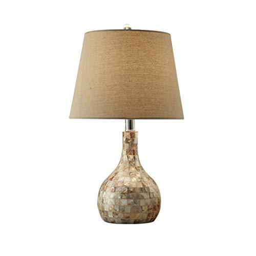Lámpara Mesa Arte lámpara de mesa lámpara de cabecera del dormitorio de la sala de estudio creativo lámpara de mesa nórdica post-moderna lámpara de Shell minimalista Lampara Mesilla ( Color : B )