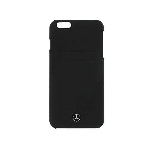 Mercedes Pure Line MEHCP6LPLBK Custodia Rigida con Slot per iPhone 6 Plus, Nero