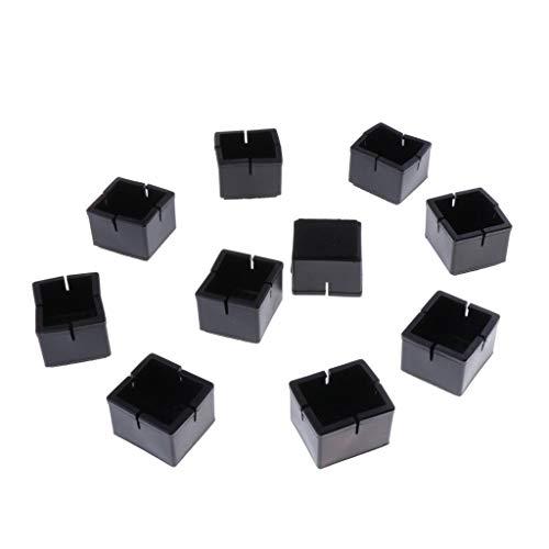 Baoblaze 10 Piezas Almohadillas para Piernas de Muebles Protector de Piso Silla Sofá Deslizamientos Almohadilla de Pies Cuadrados