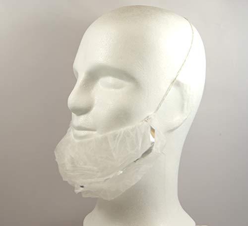 100 Stück Bartschutz (detektierbar) aus Vlies [PP], 40 x 25 cm, im Polybeutel, Bartbinden