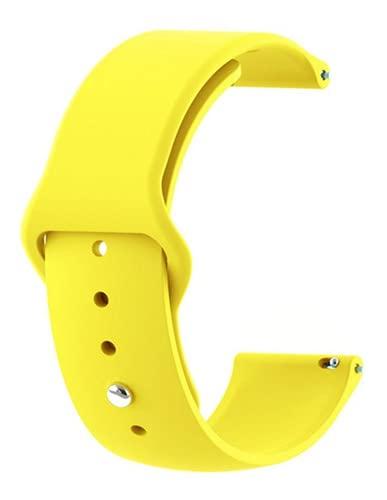 Pulseira Silicone 20mm amazfit Gts / Gts2 / Gts Mini / Gtr Amarelo - (C7COMPANY)