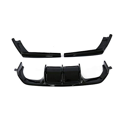 Spoiler Delantero Delantero, Labio Inferior y troncal Trasero Quads de extracción Difusor de la Barbilla Negro, para BMW F80 M3 F82 F83 M4 2015-2020