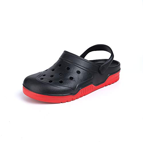 Zuecos Hombre Mujer Goma Transpirables Zapatos da Jardin Plastico Classic Sandalias Playa Casa Cómodo Verano 2803 Negro 39