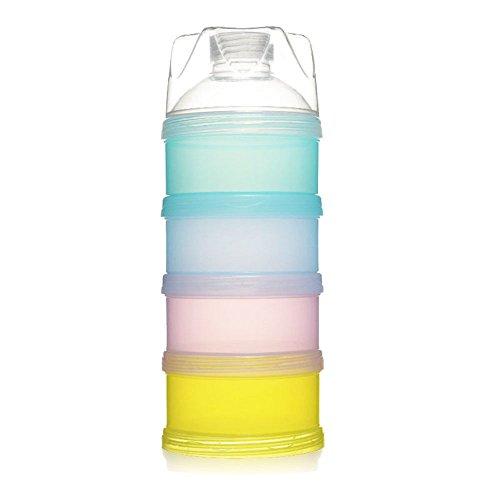 Milch Pulver Spender, Formel Milchpulver Zufuhr, Säuglingsformel Milchpulver Säuglingsnahrung Kasten Tragbare Milchkasten Kann 4-Schicht für Reise im Freien/Nachtzeit Krankenpflege Gestapelt Werden