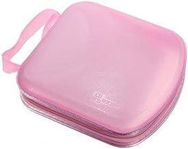 Beaupretty CD Case, DVDs Wallet Holder Portable Plastic 40 Disc CD DVD VCD Wallet Storage Bag Case Organizer (Pink)