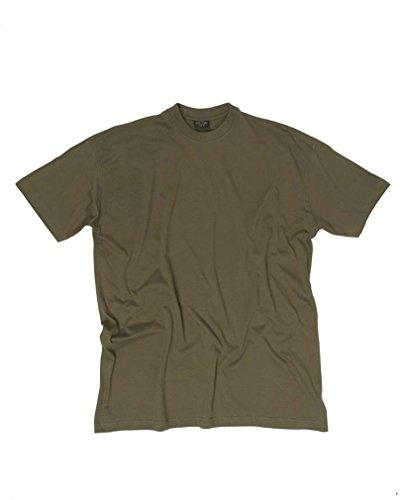 Miltec Uni T-Shirt Style US BDU Noir, Vert Olive et Coyote Kaki Vert Vert Olive Moyen
