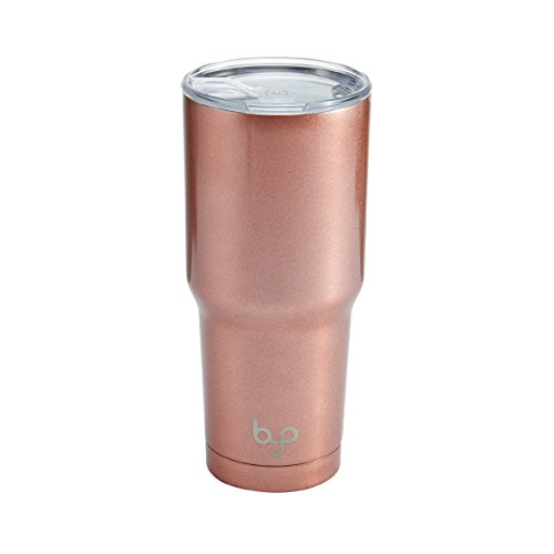 BYO por built NY- Vaso de Doble Pared, Aislado al Vacío, 30 Oz, Rose gold