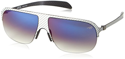 Red Bull Racing Eyewear Unisex - Erwachsene Sonnenbrillen Sports-Tech, Gr. One Size, Silver Carbon/Gradient Smoke With Gradient Blue Flash