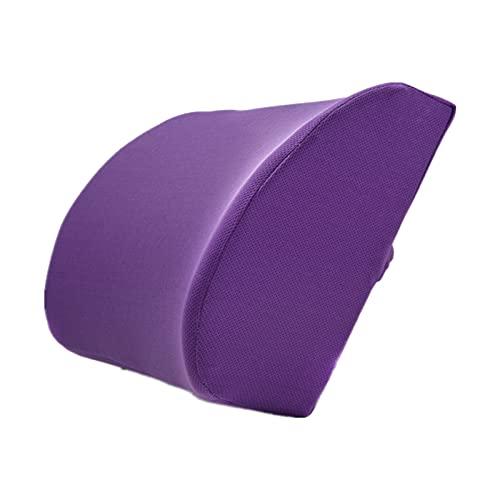 Schienale Supporto Lombare per Ufficio Schienale In Memory Foam Cuscinetti Lombari Estivi Cuscinetti Lombari per Auto Traspiranti A Rimbalzo Lento (Sporty Bird's Eye Purple)