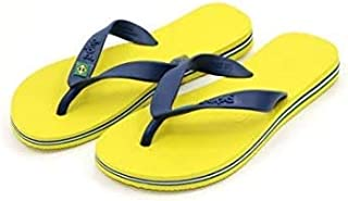 Dupe Yellow Flip Flop Thong Design Slipper for Mens