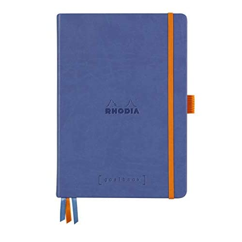 Rhodia 118577C Rhodiarama Goalbook rigido ZAFFIRO A5 240p DOT Carta bianco 90g