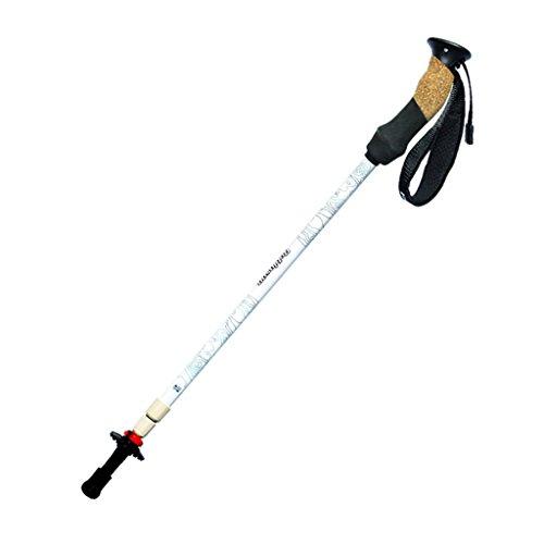 Xing Hua home Reisen Outdoor-Lieferungen schwarz-weiß Trekkingstöcke Nadelholz-Sticks High-Tech-3K Carbon Krücken (Color : Weiß)