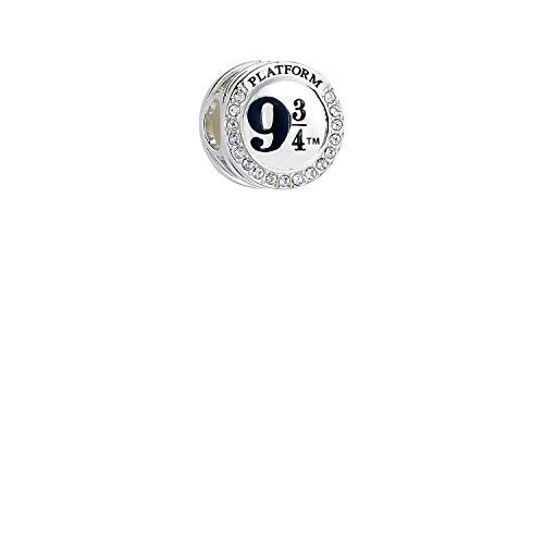 Pulsera oficial de Harry Potter de plata de ley con colgante de 9 3/4 adornado con cristales de Swarovski de la marca Carat Shop