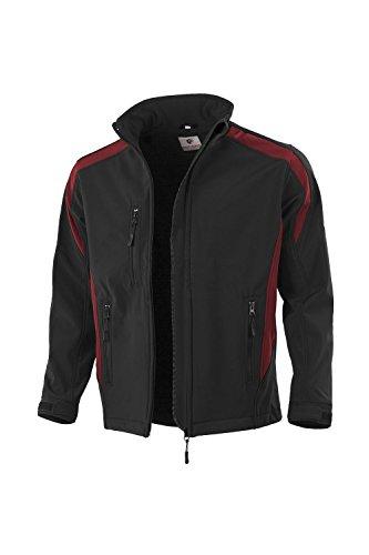 Qualitex Softshelljacke Arbeitsjacke (L, schwarz/rot)