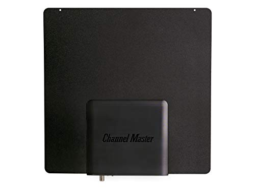 Channel Master SMARTenna+ Amplified Indoor TV Antenna with Active Steering - Reversible Black/White - CM3001HD