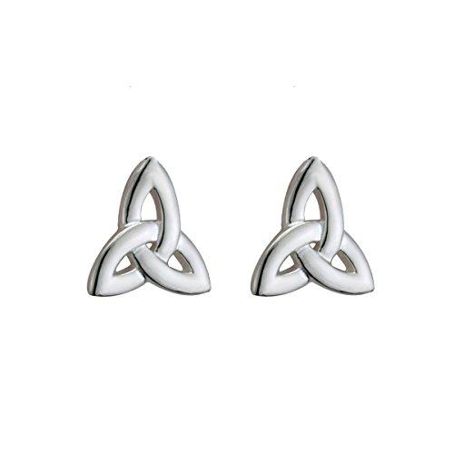 Biddy Murphy Womens Trinity Knot Earrings Irish Studs Small Sterling Silver Made in Ireland
