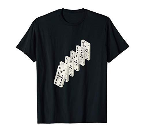 ドミノ/ボードゲーム サイコロ転がし スポーツゲーム 趣味 ノックオンドミノ Tシャツ