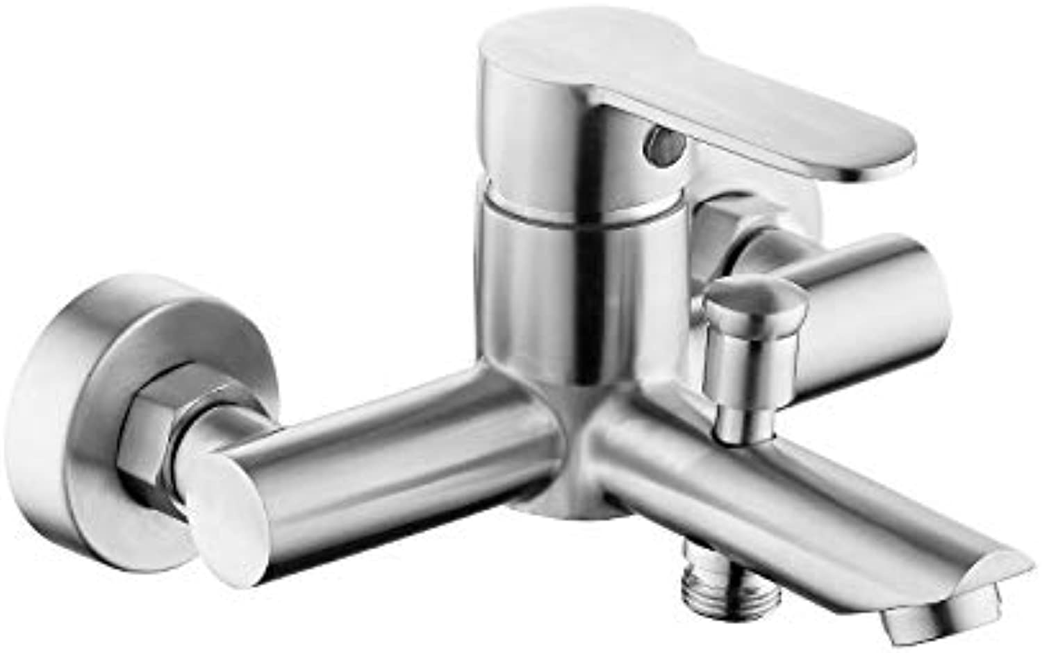 304 Stainless Steel Bathtub Brushed Faucet Hot and Cold Water Mixing Valve Rain Shower Triple Faucet