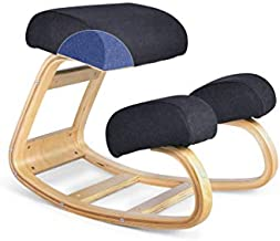 Luxton Ergonomic Kneeling Chair with Memory Foam Cushions - Posture Support Comfortable Padded Office Desk Chair - Angled Rocking Stool & Balancing Seat - Natural Relief for Neck or Back Pain