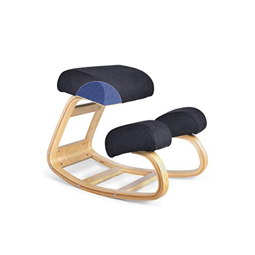 Luxton Ergonomic Kneeling Chair with Memory Foam Cushions - Posture Support Comfortable Padded...