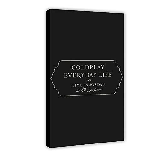 Leinwandposter mit Musikdokumentarie, Coldplay Everyday Life – Live in Jordan Cover (3) Leinwand-Poster, Wandkunst, Dekordruck, Gemälde für Wohnzimmer, Schlafzimmer, Dekoration, Rahmen: 40 x 60 cm