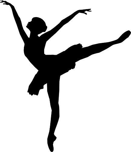 EmmiJules muursticker ballerina danseres - Made in Germany - in verschillende maten en kleuren - kinderkamer meisjes ballet sport muursticker muursticker 60cm x 50cm zwart
