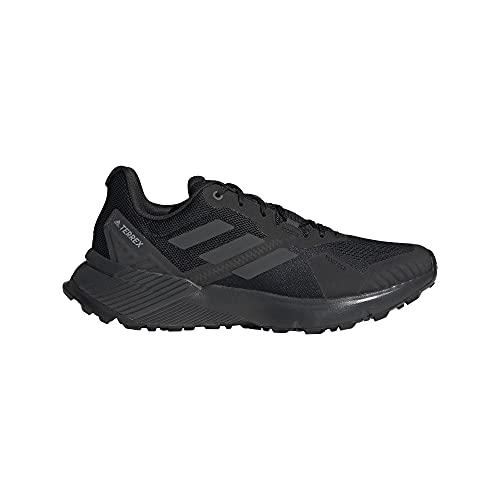 adidas Terrex SOULSTRIDE, Zapatillas de Trail Running Hombre, NEGBÁS/Carbon/GRISEI, 47 1/3 EU