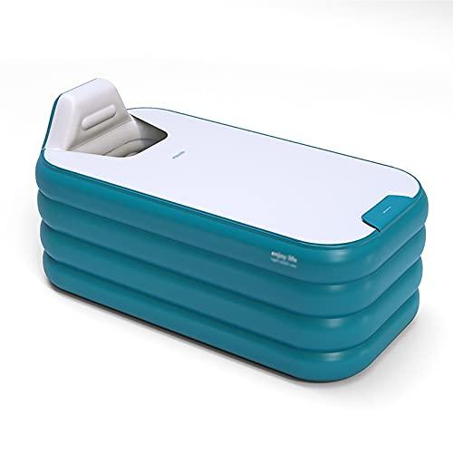 Aufblasbare Badewanne Aufblasbarer Pool für Erwachsene Kinder Baby Pool SPA Badewanne Fass, Ein-Knopf-Aufblasung, Doppelablauf, 140/160cm