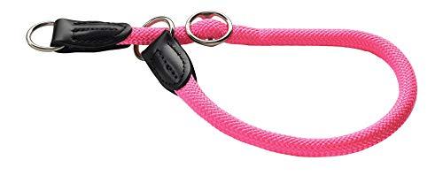 HUNTER Freestyle Dressurhalsung, Hundehalsband, Zugstopper, robust, wetterfest, 50 (M-L), neonpink