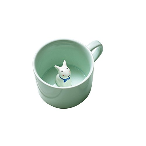 Haotfire 3D Cute Cartoon Miniature Animal Figurine Ceramics Coffee Cup - Best Office Cup & Birthday Gift