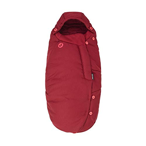 Maxi-Cosi Fußsack, kuschelig warmer Universal Winterfußsack, passend für fast alle Kinderwagen und Buggys, nutzbar ab der Geburt bis ca. 3,5 Jahre, essential red