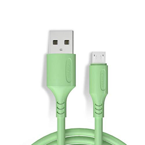 Leeofty Cable Micro-USB Micro USB a USB 2.0 3A Cable de Carga rápida Cable de Cargador Duradero para teléfonos móviles Android Verde