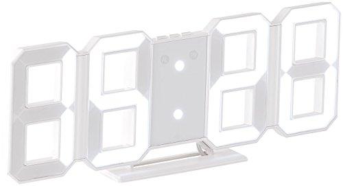 Lunartec Digitaluhr Wand: Digitale Jumbo-LED-Tisch- & Wanduhr, 3D, Wecker, dimmbar, 28 cm (Digitaluhr zum Hinstellen)