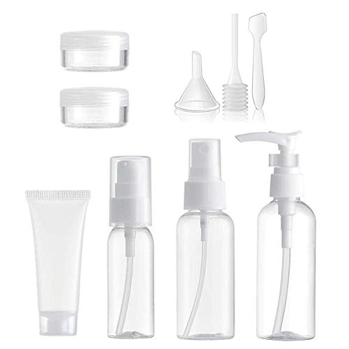 Gertok Travel Bottles For Liquids Plastic Bottles Sample Pots,Easy To Fill And Clean,Portable Travel Bottles