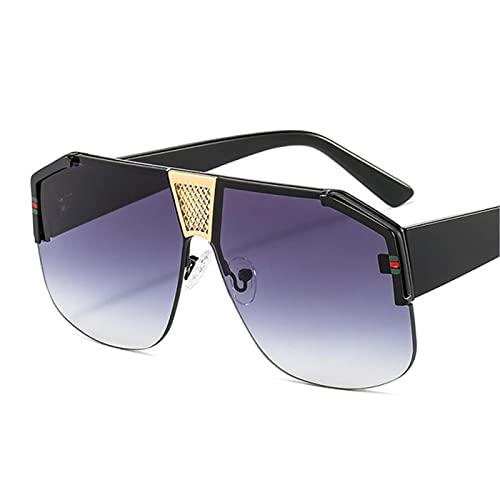 UKKD Gafas De Sol Shield Shape Gradientes Gafas De Sol Hombres Mujeres Moda Trend Luxury Color Lens Pc Marco Diseñador Gafas De Sol-C2